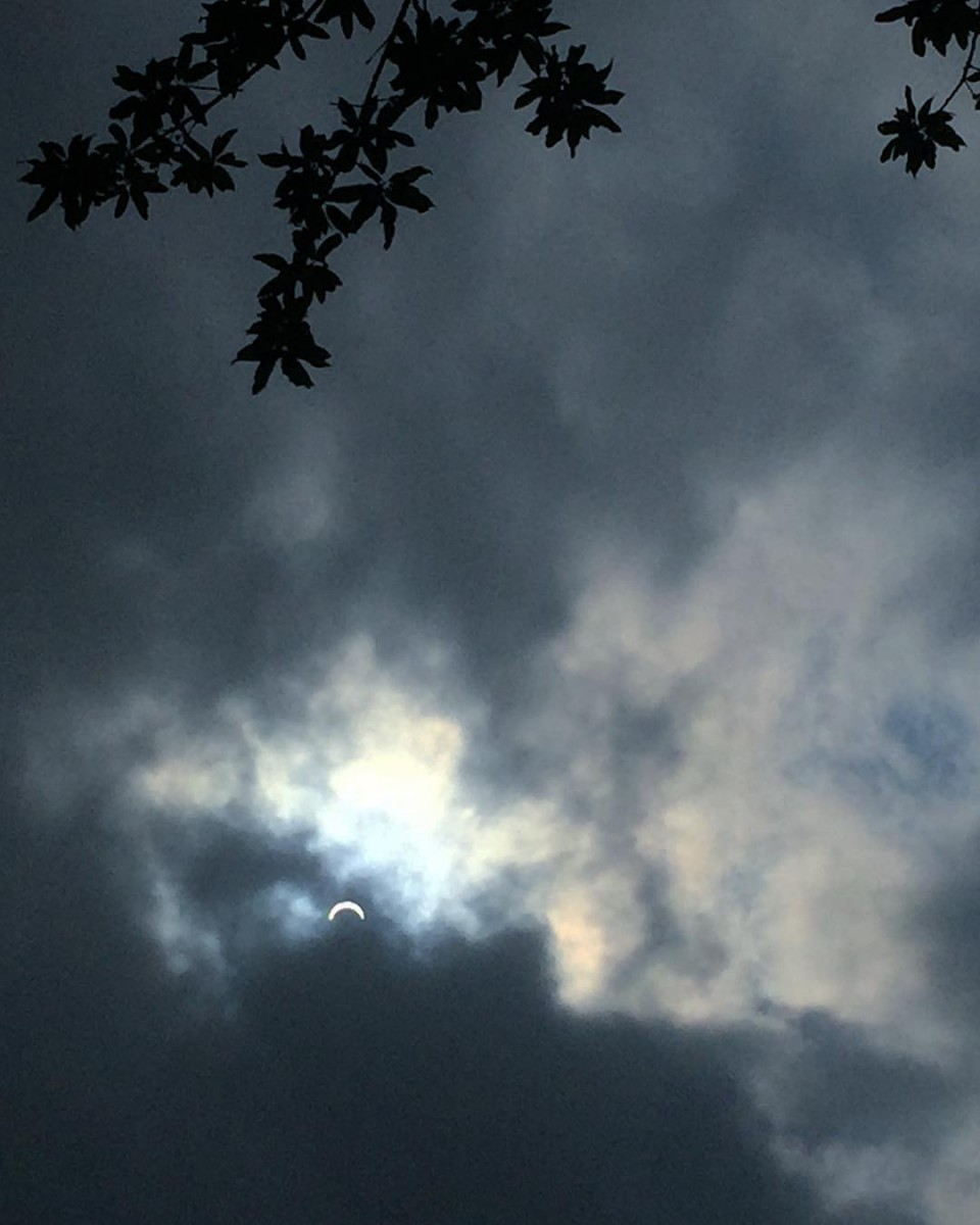 Wellwe got a peek at the partial eclipse of thehellip